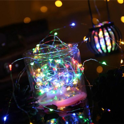 Minii's Power-saving Eco-friendly1M 10 LED / 2M 20 LED / 3M 30LED Battery Copper Cable Wire Mini Fairy String