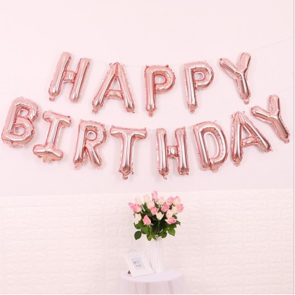 16 Inch Foil Letter Happy Birthday Balloons  for Party Decorations