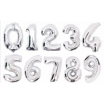 1 Pcs 32 inch  0-9 Numbers Foil Balloon Wedding Anniversary Birthday Decor ROSE GOLD/ RAINBOW/ GOLD/ SILVER