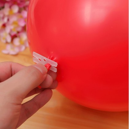V  Shaped  /H Shaped Balloon Clips Plastic Sealing Latex Balloon Helium Hydrogen For Birthday Wedding Party Decoration Supply