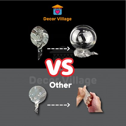 Easy to blow 1 pcs 18 / 24 / 36 Inch Transparent Bubble Balloon Clear Bobo Balloon