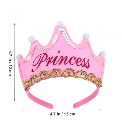 Birthday Party Hats LED Light Birthday Crown Toy Princess Hat Christmas Decor Flash toys for girls