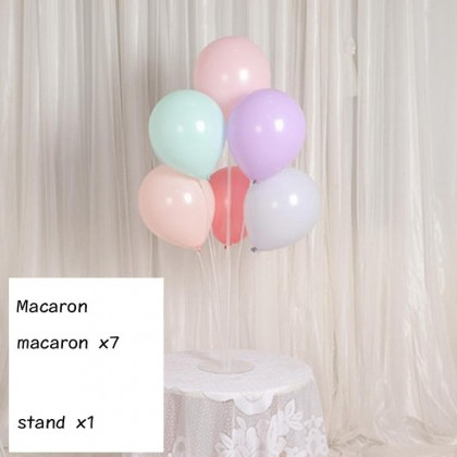 7 in 1 Plastic Balloon Base  Plastic Balloons Stand Holder Stick Stand WITHOUT HELIUM GAS