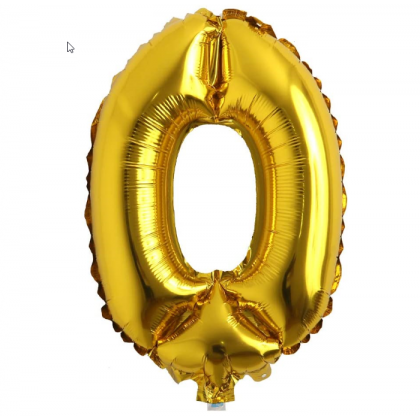 Miniis 16 inch Number 0-9 Balloon Foil Balloons Gold / Silver / Rose Gold Numbering