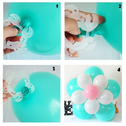 10 PCS  Multi-funtion Double Layer Balloon Clips for Balloon Arch, Balloon Column Stand and Balloon Flowers Party Decoration Accessory
