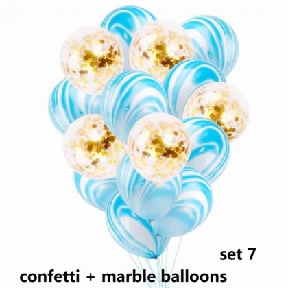 20 pcs 12 Ins Confetti mix Marble x Latex  Party Decor Birthday Balloons Perfect for Party Wedding Graduation Baby Shower