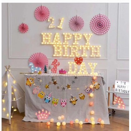 3M 20 LED Colorful Cotton Ball LED String Wedding Birthday Party Fairy Light