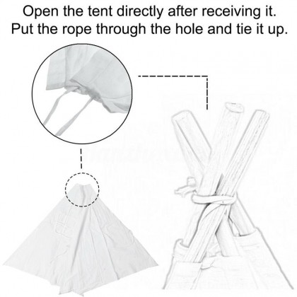Minii's Children's Teepee Tent for Boys & Girls, Large Tipi Tents for Toddler Kids Baby Boy Adult Children, Reading Nook