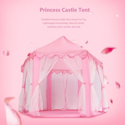 Minii's Children's Large Playhouse Kids Castle Play Tent with Star Lights Toy for Children Indoor and Outdoor Games  Hexagon