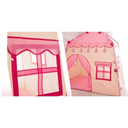 Minii's Princess Princ Castle Play Tent Kids Teepee Tent Large Children Playhouse with Carry Bag Portable Playhouse Boys & Girls Birthday Gift