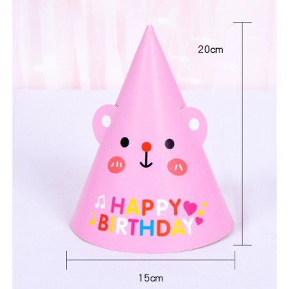 Miniis 10 pcs Happy Birthday Party Paper Cone Hat  Birthday Paper Hats Cuties for Boys and Grils