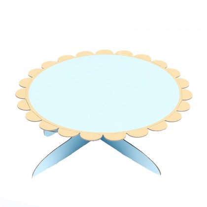 Minii's  1 layer Paper Cake Stand Disposable  Cardboard Cake and Cupcake Stand Dessert Tower Pink Blue White