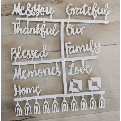 Minii's INS Felt Letter Board Message Sign - 25x25 30x40 Oak Wood Black Changeable Word Letterboard, Wall and Tabletop Display with Changeable White, Letters, Symbols, Emojis