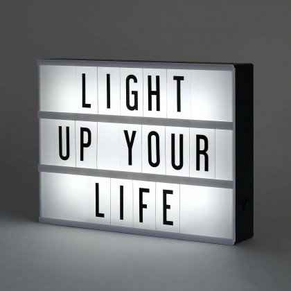 Minii's A5 / A4 / A3  Cinema Lightbox LED Lightbox, Includes Letters & Numbers to Create Changeable Signs, Battery or USB