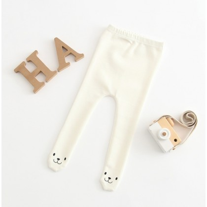 Miniis Smile Leggings For Baby Girl Outfits Baby Clothes White Grey