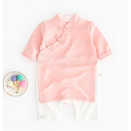 Miniis Chinese Style Traditional Baby Gong Fu Outfits Romper For Baby Boy Girl Sleeves Long Short Romper 1 Pices