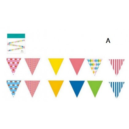 Miniis Triangle Flag Banner Bunting Pennant for Kids Teepee Tent,Party and Room Decoration